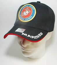 United States US Marine Corps Military Black Cap Official Licensed Product M5