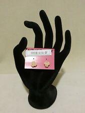 Peach Rose Earrings Nwt Betsey Johnson