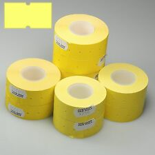 10,000 Yellow CT1 Price Gun Labels For Motex MX-5500
