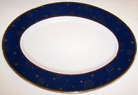 "HALLMARK HOME COLLECTION SAKURA STAR LIGHT CHRISTMAS 21"" OVAL SERVING PLATTER"