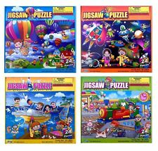 24 Pieces Jigsaw Puzzle Kids Learning Educational Toy Birthday Christmas Gift UK 4 X Full Set