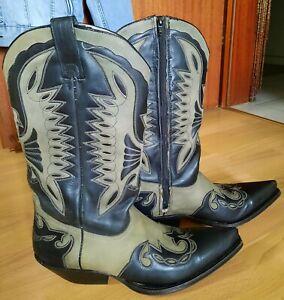 Buffalo Herren Cowboystiefel WesternStiefel Gr43 Echt Leder handcrafed gebraucht