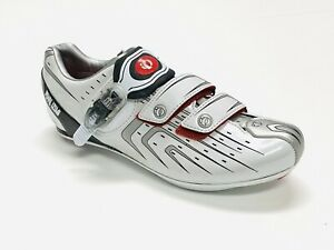 Pearl Izumi Interface Road Cycling Shoes Mens Size 42 White Pro Grade Carbon