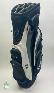Used TaylorMade Cart Carry Golf Bag 14-way Black/White Ships Free