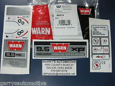 WARN 68614 Winch Replacement Decal Label Kit Set Sticker 9.5XP 12V