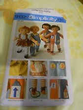 Sewing Pattern- Simplicity #9137,Learn To Dolls,Button,TieShoes,Vintage