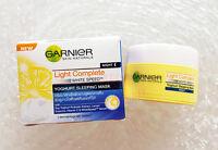 GARNIER SKIN NATURALS LIGHT OVERNIGHT WHITENING PEELING NIGHT CREAM 18 ml.