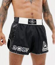 REEBOK COMBAT PRIME THAI SHORT Muay Thai Boxen Kickboxen Kampfsport Hose schwarz