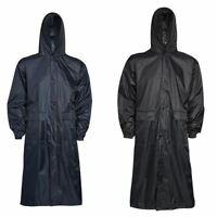 Uomo Impermeabile con Cappuccio Lightweight lungo Outdoor Pioggia Cappotto