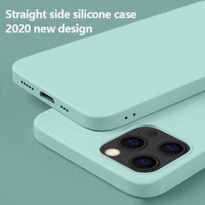 For iPhone 12 11 Pro Max 12 Mini SE 2020 Shockproof Liquid Silicone Case Cover