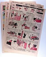 THE BUNGLE FAMILY (1938) - lot of 31 Sunday Comics - by H. J. TUTHILL