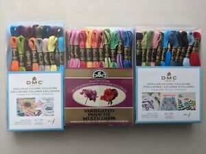 Lot of 88 Skeins DMC Embroidery Cross Stitch Floss Thread Popular Variegated Exc
