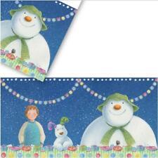 SNOWMAN & SNOWDOG Christmas Xmas Party Range Table Cloth Napkins Cupcake Boxes