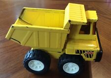 Vintage BUDDY L Yellow Pressed Steel Dump Truck Side Cab - 7 3/4 inches - Japan