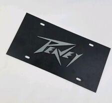 Original Peavey Front License Plate Metal Tag Music Equipment Mancave Decor Rare
