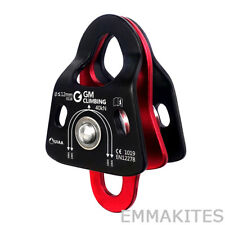 Compact Double Pulley 40kN Ball Bearing Climbing Arborist Rigging Rescue Ce Uiaa