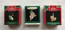 3 Woodland Babies ~ Hallmark Miniature Ornaments ~ Complete Set