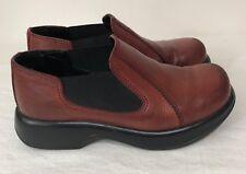Dansko sz 9 Brown Leather Slip Ons