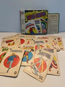 1978 MB Milton Bradley Marvel Comics Super Heroes Jumbo Card Game COMPLETE DOOM