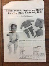 Vintage Sasha doll Do-It-Yourself Clothes by Aurelia Rupert for Baby Sasha doll