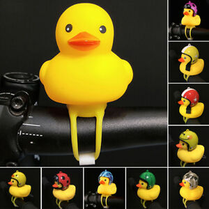 Bicycle Horn bell LED-light Little Yellow Duck With Helmet Bike Bell Child Toy