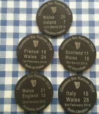 5 slate coasters rugby memorabilia Guinness six nations 2019 WALES Grand Slam