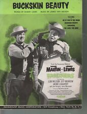 Buckskin Beauty 1956 Dean Martin Jerry Lewis - Pardners Sheet Music