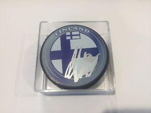Artturi Lehkonen Signed Autographed Team Finland Hockey Puck a
