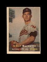 1957 Topps Baseball #13 Wally Burnette RC (A's) EXMT