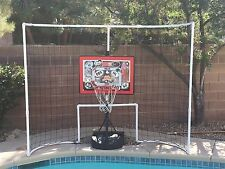 """""""The Balls Stop Here"""" Backstop for pool basketball goals"""