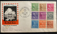 1939 Washington DC USA First day cover FDC The White House Sc#839-47