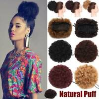 Girl Afro Kinky Curly Puff Hair Bun Ponytail Scrunchie Drawstring Hair Extension