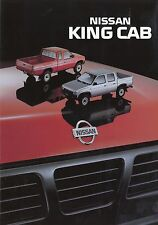 Nissan King Cab Prospekt NL 7 92 1992 Autoprospekt Auto PKWs Broschüre brochure