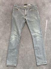 Zara Black Tag Mens Stretch Slim Fit Jeans 32 Light Blue / Grey