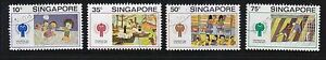 SINGAPORE 1979 INT'L YEAR OF THE CHILD (DRAWINGS) COMP. SET 4 STAMPS FINE USED