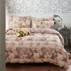 Floral Single/Double/Queen/King Size Bed Quilt/Doona/Duvet Cover Set 100% Cotton