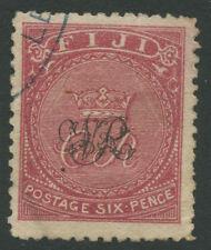 Fiji SG33a 1877 6d carmine rose Used