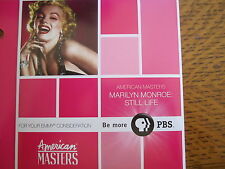 MARILYN MONROE STILL LIFE EMMY DVD PBS DOCUMENTARY HUGH HEFFNER NORMAN MAILER