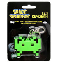 SPACE INVADERS MINI KEY-CHAIN LED FLASHLIGHT - TORCH BRAND NEW GREAT GIFT
