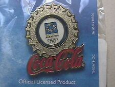 ATHENS 2004 OLYMPIC LAPEL PIN COLLECTIONS: US COCA-COLA COKE SILVER MINI BADGE