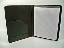 Hartmann Black Leather Executive Writing Folio, Letter Size, New Old Stock