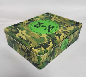 Man V Junk Camouflage Storage Tin Metal Cammo Junk Lunch Box Toy Container Gift