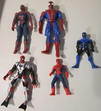 """5 Spiderman Figures Toy Biz, Marvel The Movie, McDonalds, Dc Comics 4"""" to 6"""""""