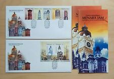 2003 Malaysia Historical Place Clock Towers 5v Stamps & MS on 2 FDC (Lot B)