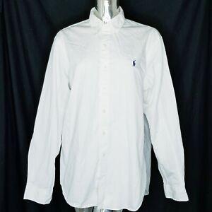 Ralph Lauren Shirt Button Down Mens White XL