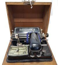 ►Antigua maquina de escribir de punzon  MIGNON nº 4 de 1924  index TYPEWRITER