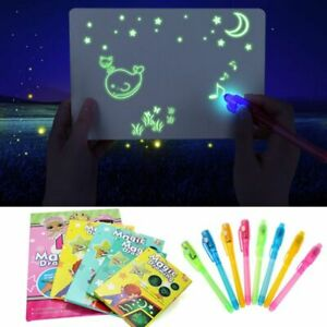 Drawing Board Luminous Draw Boards Kids Educational Toy Magic LED Light Tablet