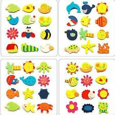5Pc Animal Wooden Fridge Magnet Sticker Funny Refrigerator Education Toy