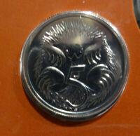 1986 Australian Five cent 5c coin - Echidna - UNC ex RAM mint set