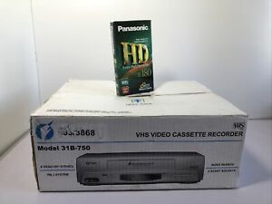 Funai VHS Video Cassette Recorder ~ Model 31B-750 ~ 6 Head ~ New ~ Unopened